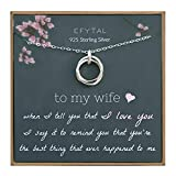 EFYTAL Wife Gifts, Wife Birthday Gift Ideas For Her, Romantic Sterling...