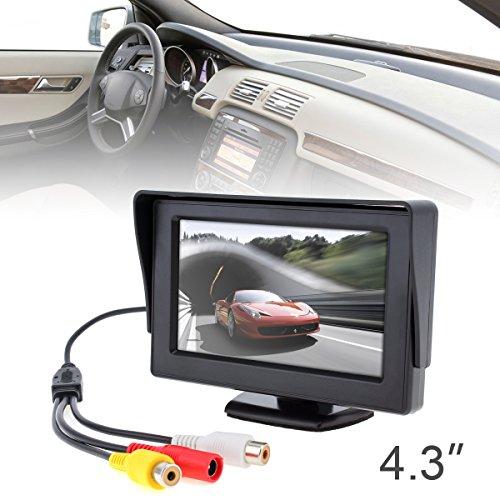 BENWEI 4.3 Pouces HD 480 * 234 Résolution 2 Canaux Entrée Vidéo TFT-LCD Moniteur de Voiture pour Caméra de Recul/DVD/VCD