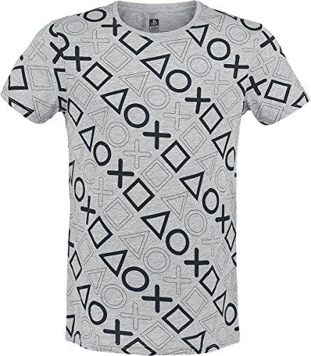 Preisvergleich Produktbild Bioworld Playstation - T-Shirt - komplett Bedruckt -L