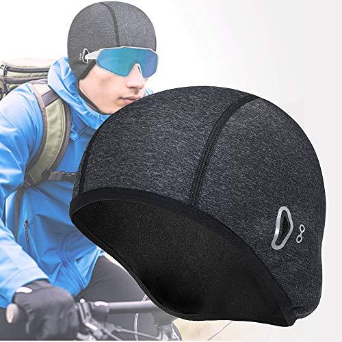 Berretto Sottocasco Cappello da Bici da Traspirante, Pile Invernali Termico Running Beanie Copricapo Berretto da Casco da Ciclismo, Fodera Casco per Adatto per Lo Sci Esercizi all'aperto (grigio)