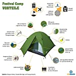 Outdoorer tent Festival Camp - the camping tent, green, waterproof, for 2-3 persons