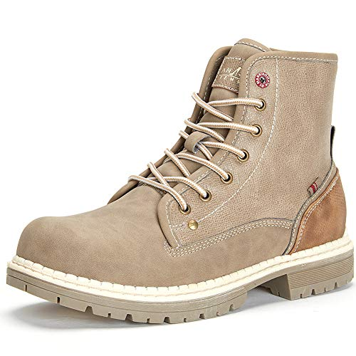 Cestfini Waterproof Hiking Boots Women - Ladies Combat Work Boots, Best Choice for Walking and Casual TM4-CAMEL-9 Brown