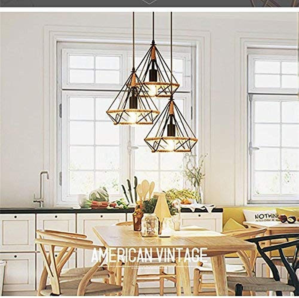 Xajgw lampada da soffitto vintage cage luce a sospensione