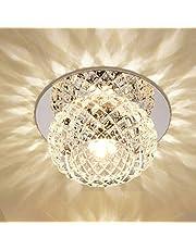 DEBEME Moderne led-plafondverlichting, 5 W kristallen verlichting, intelligente IC-driver, 360 graden verlichting, hoge warmteafvoer, voor slaapkamer, eetkamer, woonkamer