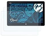 Bruni Schutzfolie kompatibel mit Fujitsu Stylistic R727 Folie, glasklare Bildschirmschutzfolie (2X)