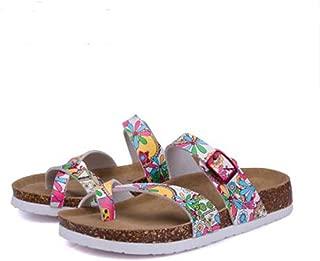 Womens Cross Toe Double Buckle Strap Summer Leather Flat Mayari Sandals