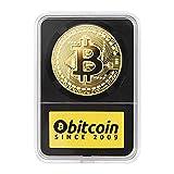 Kumbek - Bitcoin Moneda Física Dorada - Revestida en Oro de 24 Quilates - Pieza de Coleccionista para el Inversor + Caja Protectora
