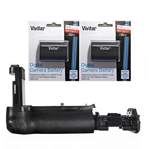 Vivitar for Canon BG-E16 Battery Grip for Canon EOS 7D Mark II (Alternative for Canon BG-E16) + 2 Pcs. High Capacity LP-E6 Batteries + Nw Direct Microfiber Cloth