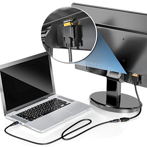 deleyCON DVI auf HDMI Adapter-Kabel - DVI Stecker zu HDMI Buchse 24+1-1080p Full HD HDTV 1920x1080 - vergoldete Kontakte - TV Beamer PC - Schwarz