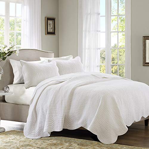 Madison Park Tuscany 3 Piece Coverlet Set, King/California King, White, King/Cal King(104'x94') (MP13-1038)