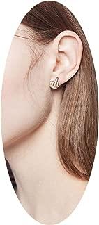 PLLP Earrings for Women/Earrings for Short Hair/Temperament Korean Personality Simple Crown Mini Earrings/Web Celebrity Ear Jewelry,Golden,One Size