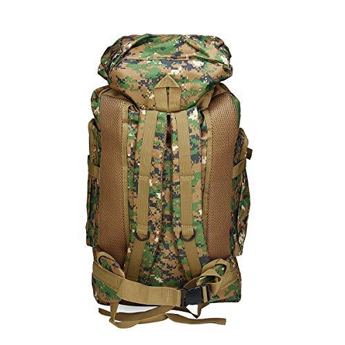 Ys-s Personalizzazione del Negozio 80L Fuori Combattimento Militare zanacks tattico Borsa Tattica Tending Escursionismo Trekking Zaino (Color : Jungle Digital)
