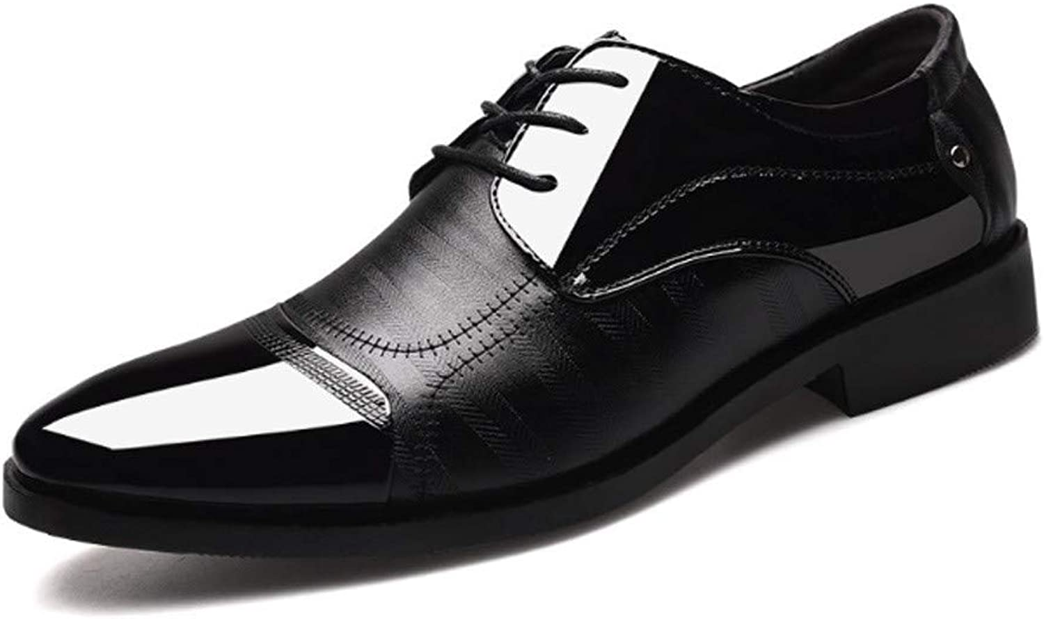 AADDIN Leather shoes Men Formal Leather shoes Men Business Office Wedding shoes Lace Up