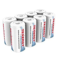 in budget affordable Tenergy Premium Battery Class C, Large Capacity, Size C, Cell C 5000 mAh NiMH Battery…