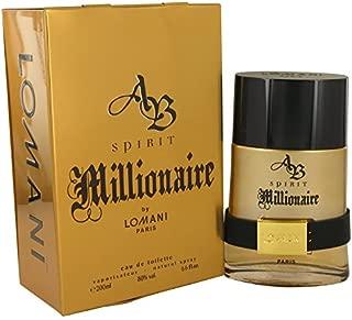LOMANI AB Spirit Millionaire Cologne for Men 6.6oz/200ml Eau de Toilette Spray, NIB