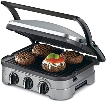 Cuisinart 5 in 1 Function Contact Counter top Grill Panini Press Griddler Gourmet product image