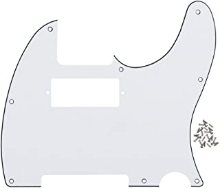 IKN 3Ply White Tele Guitar Humbucker Pick Guard Plate w/Screws Fit USA/Mexican Made Fender Telecaster Part