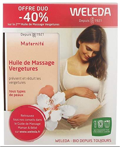 Weleda Maternité Huile de Massage Vergetures Lot de 2 x 100 ml