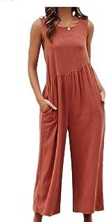 VITryst 女性マルチカラー全体的な純粋な色の緩やかなフォーマルなジャンプスーツ