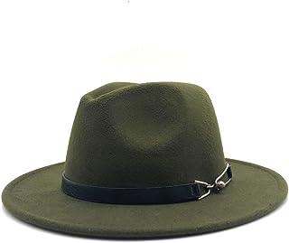 Fashion Sun Hat for Men Women Fashion Fedora Hat Wool Felt Leather Belt Belt Decorative Hat Retro Wide-Breasted Gentleman Elegant Ladies Jazz Hat Suitable for hot Weather Season