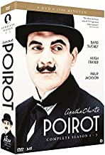 Agatha Christie's Poirot - Complete Seaons 1 + 2 + 3 - 9 DVD Box Set Collection (1,500 min)