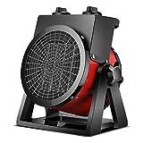 Calefactor Calefactor de cerámica con alto flujo de aire y avanzada tecnología de las baterías de calefacción calentador de ventilador tambor comercial industrial con 2 ajustes de calor for garajes y