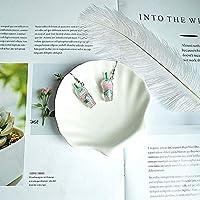 Da zhi 女性のファッションシンプルなコーヒーカップ樹脂イヤリングブラブラドリンクボトルイヤリングガールファニーかわいいイヤリングイヤリングのためのイヤリング Da zhi (Metal Color : Purple ear hook)