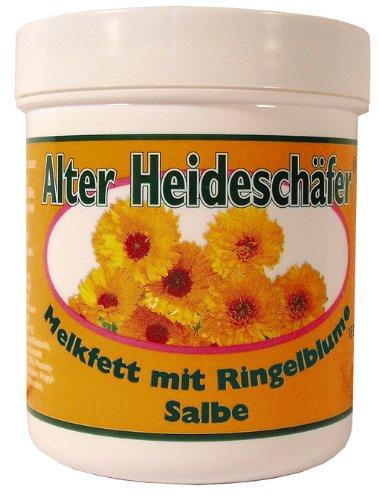 Melkfett mit Ringelblumen Salbe Hautschutzmittel für raue Haut, schützt und macht geschmeidig, zur allgemeinen Pflege bei trockener und strapazierter Haut