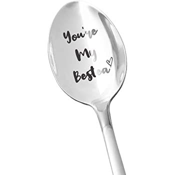Funny Tea Spoon Engraved Stainless Steel Tea Gifts for Tea Lovers Women Best Friends Gifts for Women Girls Cute Tea Spoon Perfect Birthday//Valentine//Anniversary//Christmas Gift