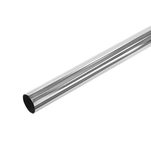 Shopfitting Warehouse Chrome Plated Metal Tube - 25mm Diameter, Choice of Length - Pole for Wardrobes 3m
