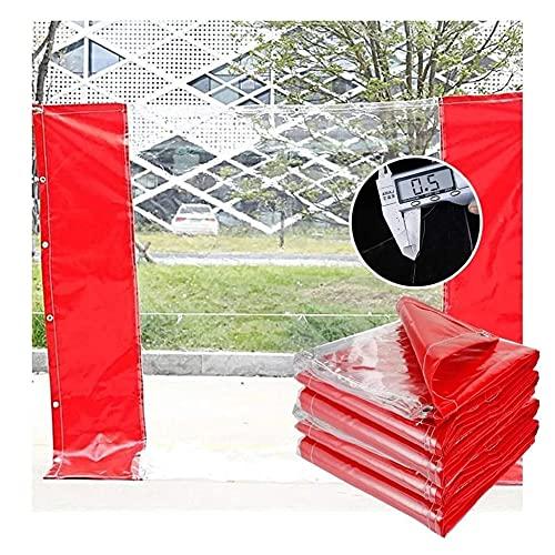 N\A ZHANGQINGXIU Lonas Impermeables Exterior,Lona Transparente, Vidrio De PVC Resistente Al Agua De 0,5 Mm, Panel Transparente Y De Privacidad, Cubierta De Lona con Ojales, 50 Tamaños