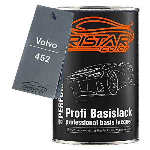 TRISTARcolor Autolack Dose spritzfertig für Volvo 452 Noir Saphir Metallic Basislack 1,0 Liter 1000ml