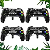 BESTZY globos de fiesta de videojuegos,Globo de Papel de Aluminio en forma de Controlador,4 piezas Globos de fiesta de videojuegos para niños Adultos.
