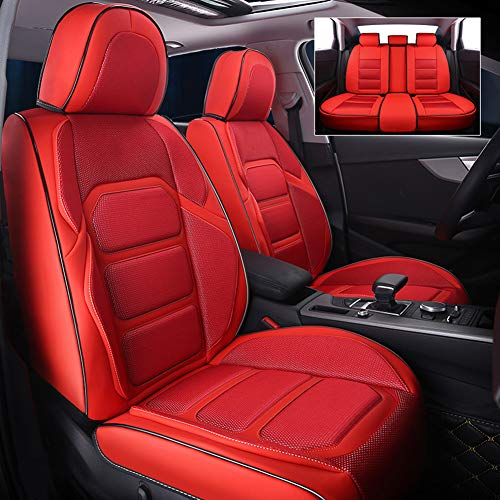 RR-YRC Space Capsule Car Seat Set, Suitable for Cars, Trucks, Suvs, Compatible with Audi A3/A4/A5/A6/A8/Q3/Q5/RS4, Suitable for Most Cars,Red