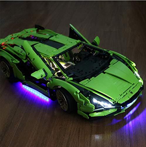 EDCAA Kit de luz LED para Technic Lamborghini Sián FKP 3 Proyecto de construcción para adultos Exhibición Este modelo distintivo compatible con Lego 42115 (no incluido modelo)