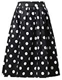 GRACE KARIN Jupe Plissee Patineuse Femme Extensible Jupe Evasee Taille Haute Chic Jupe a Pois Vintage XL CL6294-2