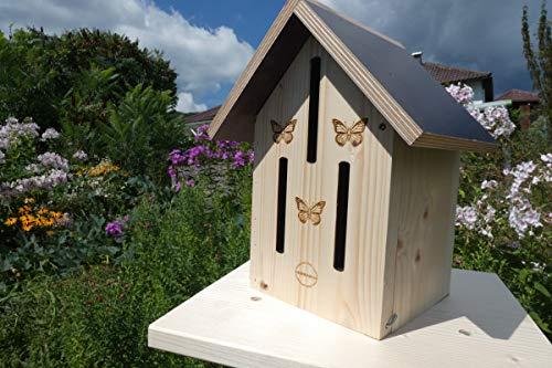 Qualität aus Niederbayern ARBRIKADREX Schmetterlingshotel Schmetterling Insektenhaus Nistkasten Garten Deko