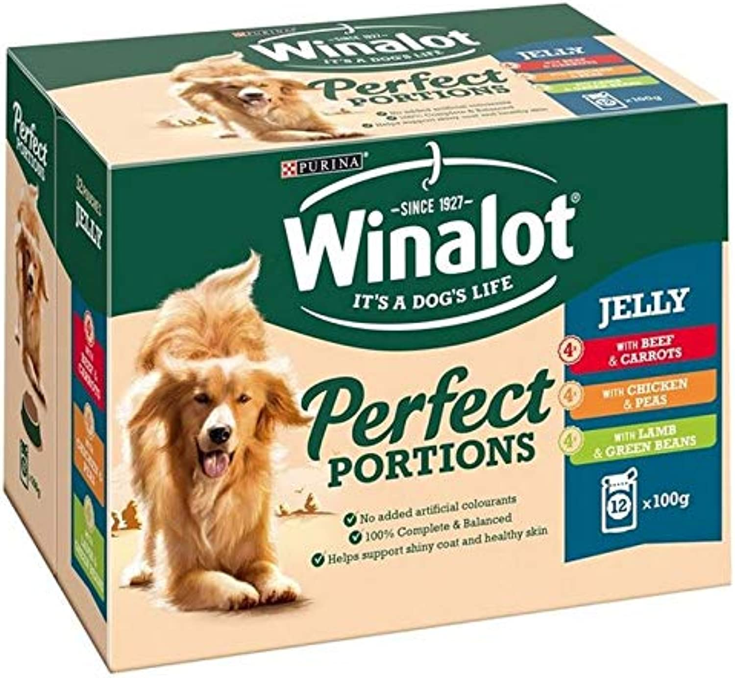 4X Winalot Perfect Portions Meat in Jelly 12 x 100g