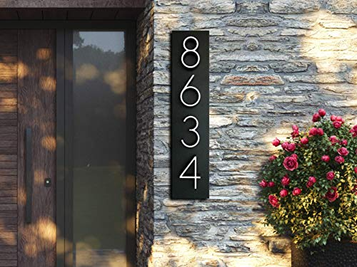 House Numbers | Address number in Vertical and Horizontal mode | Address plaques for outside | Personalized gift | Housewarming gift idea | Address signs | Modern house numbers