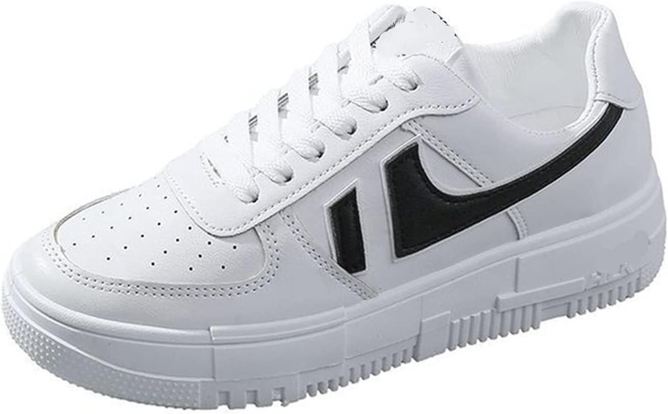 XYXK Woman Sneakers Women's Shoes Ladies Casual Breathable Female Shoes Lace Up Woman Comfort Walking Shoes (Color : White, Shoe Size : 37)