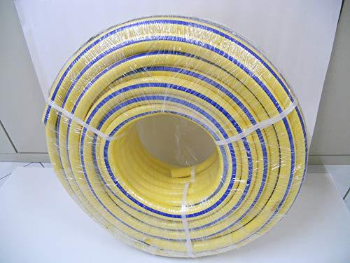 Tuyau Tricoplus Tuyau co-extrudé en 6 couches anti-torsion, de très haute qualité constructive. Extérieur jaune – Intérieur blanc.