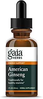 Gaia Herbs American Ginseng, Liquid Supplement, 1 Ounce - Supports Immune System & Stress Adaptation
