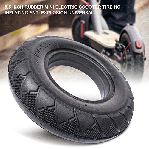Neumático de Scooter eléctrico, Neumático de Scooter de 8.5 Pulgadas, Neumáticos sólidos de Goma antiexplosión sin inflar