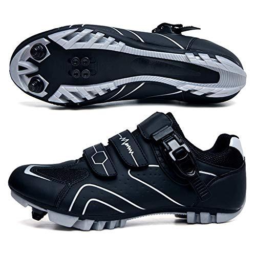 Zapatillas de Ciclismo MTB para Hombre - Zapatillas de Bicicleta de montaña...
