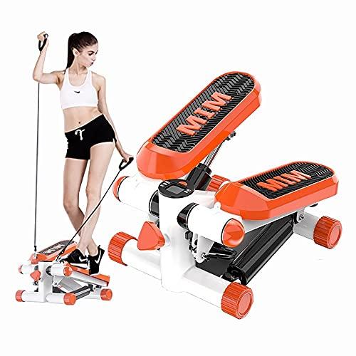 angroups Mini Stepper 2 en 1 Fitness aeróbic para el hogar, pequeño Stepper con Plataformas Ajustables y Pantalla Multifuncional,Escaladora Stepper para Usuarios Principiantes y Avanzados