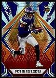 2020 Panini Phoenix Fire Burst #111 Justin Jefferson Minnesota Vikings (Silver Prizm Refractor) NFL Football Card (RC - Rookie Card) NM-MT. rookie card picture