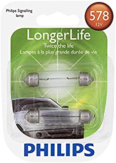 Philips 578LLB2 578 LongerLife Miniature Bulb, 2 Pack