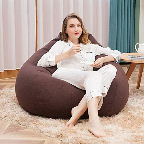 Qinmo Lazy puf de Ocio, Ideal for Ver televisión o Leer un Libro de Memoria súper Suave Silla pelotita de Espuma, sillones Puff + Footstool (Color : F)
