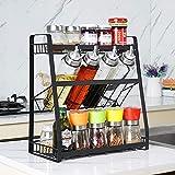 Especiero,Estante de Cocina con 3 niveles,Especiero de cocina Estanterías metálicas Especiero...