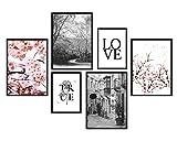 bilderreich Premium Poster Set Deko Bilder Wohnzimmer